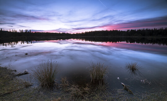 Germany, Bavaria, Schoenramer Moor at sunset - STCF000211