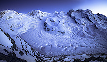 Switzerland, Zermatt, Gorner Ridge glacier, blue hour - STCF000232