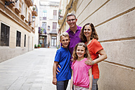 Spain, Barcelona, portrait of happy family - VABF000462