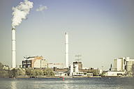 Germany, cement works and power station Rummelsburg at Spree river - CMF000402