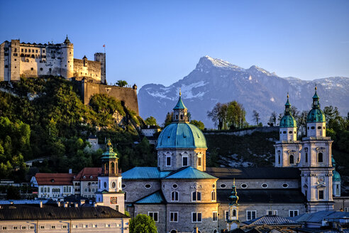 Austria, Salzburg, Cathedral and Hohensalzburg - HAM000184