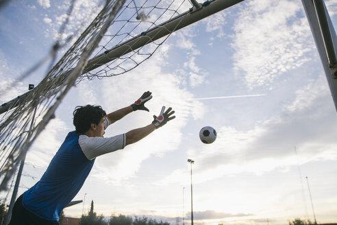 Football goalkeeper making a safe - ABZF000470