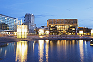 Germany, Leipzig, view to Gewandhaus at twilight - GWF004690