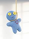 Voodoo doll hanging on rope, 3d rendering - AHUF000161