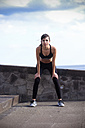 Portrait of young woman doing workout - SIPF000440