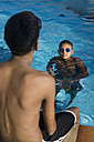Two boys in swimming pool - MAUF000568