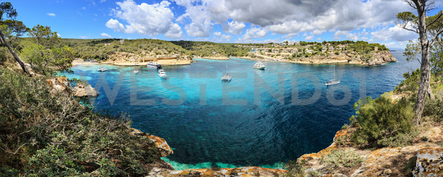 Spain, Mallorca, panoramic view of Portals Vells bay - VTF000520 - Val Thoermer/Westend61