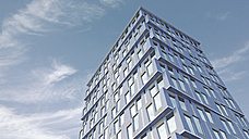 Modern high-rise building, 3D-Rendering - UWF000883