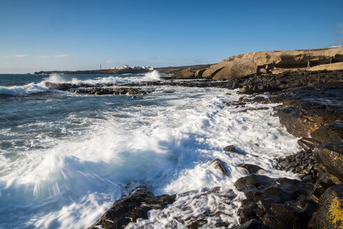 Spain, Tenerife, rocky coast and surging billows - SIPF000496