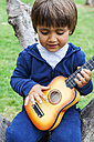 Little boy playing guitar - VABF000483