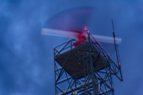 Radar station, weather radar at night - FRF000436