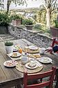 Laid garden table - RIBF000422
