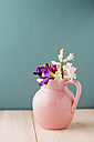 Pink jar with spring flowers - MYF001487
