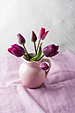 Jar with pink tulips - MYF001490