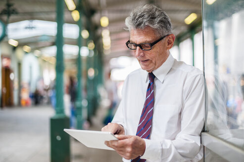 Senior businessman using digital tablet - DIGF000548