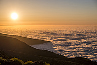 Spain, Tenerife, clouds and Pico del Teide region at sunset - SIPF000502