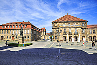 Germany, Bavaria, Bayreuth, Jean Paul Square and administrative court - VT000530