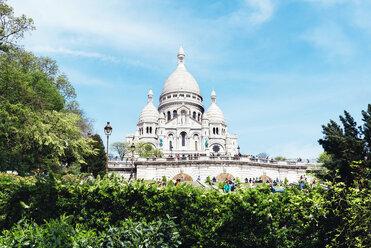 France, Paris, view to Sacre-Coeur at Montmartre - GEMF000908