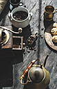 Grinding coffee with vintage coffee mill - DEGF000798