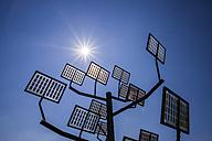 Germany, Ulm, solar tree at Solar City - WGF000863