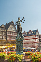 Germany, Frankfurt, view to Ostzeile and Gerechtigkeitsbrunnen in the foreground - TAMF000473