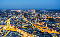 Germany, Frankfurt, view to the lighted city from above - TAMF000485