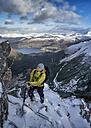 Scotland, Glencoe, Beinn a'Bheithir, mountaineering in winter - ALRF000470