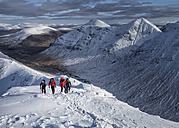 Scotland, Glencoe, Buachaille Etive Beag, Stob Dubh, mountaineering in winter - ALRF000476