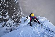 Scotland, Glencoe, Stob Dearg, mountaineering in winter - ALRF000488