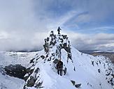 Scotland, Glencoe, Beinn a'Bheithir,  mountaineering in winter - ALRF000500