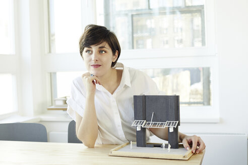 Portrait of architect with architectural model - TSFF000059