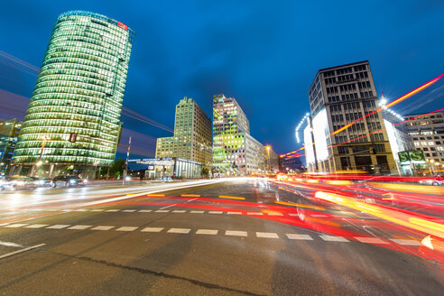 Germany, Berlin, Berlin-Mitte, Potsdamer Platz in the evening - TAMF000504