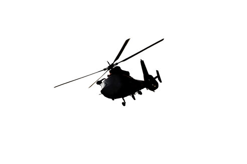 Rescue helicopter, mid air - JLRF000040