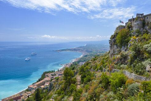 Italy, Sicily, Taormina, Santuario Madonna della Rocca - RJF000583