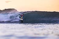 Indonesia, Sumbawa island, Surfer - KNTF000290
