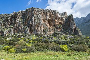 Italy, Sicily, Province of Trapani, San Vito lo Capo, rock, climbing wall - HWOF000108