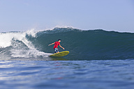Indonesia, Bali, Surfer on wave - KNTF000316