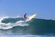 Indonesia, Bali, Surfer on wave - KNTF000319
