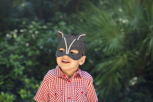 Little boy wearing animal mask - VABF000562