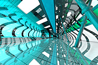 3D Rendered Illustration, Architecture visualization of a futuristic subway or train station - SPCF000080