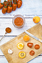 Ingredients for homemade apricot ketchup - LVF004934