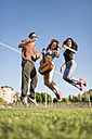 Friends having fun and jumping for joy - JASF000821