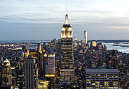 USA, New York, New York City, Manhattan, Empire State Building, cityscape - JLRF000049