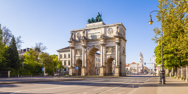 Germany, Bavaria, Munich, Victory Gate - WDF003625