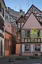 France, Colmar, Rue de l'Ange, historic frame houses at the old town - ELF001744