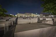 Germany, Berlin, Holocaust memorial at night - NK000465