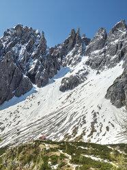 Italy, Alto Adige, Sexten Dolomites with Elfer, Hochpuster Valley, Rifugio Berti - STSF001037