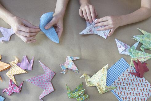 Hands doing origami - NHF001491