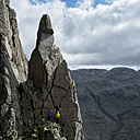 England, Lake District, climbers in Wasdale Valley - ALRF000558