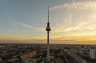 Germany, Berlin, view to television tower by sunset - TAMF000514